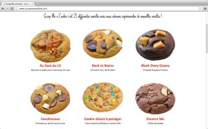 Scoop Me a Cookie website screenshot. Even their food photography is enticing!